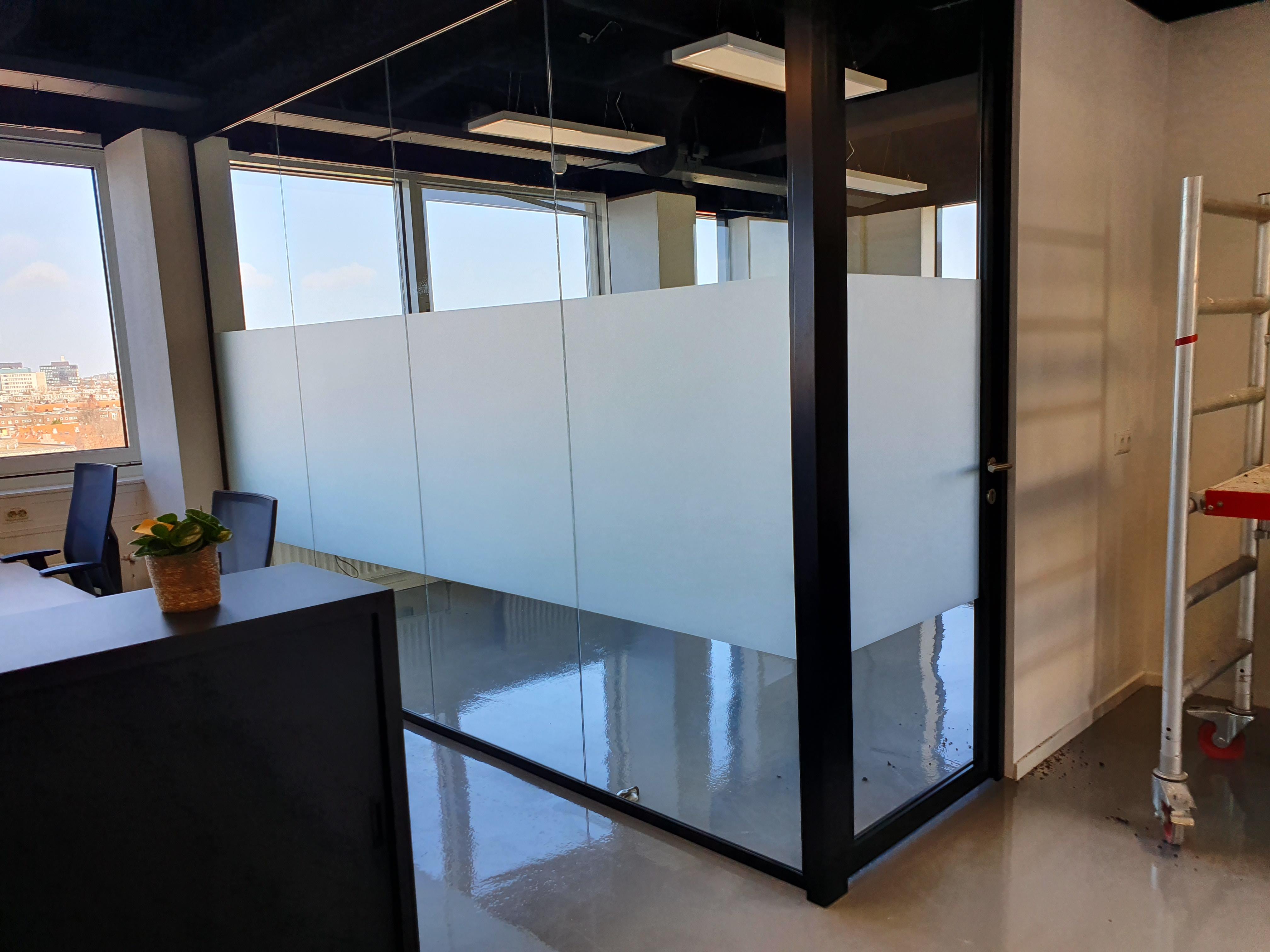 kantoor blinderen privacy folie